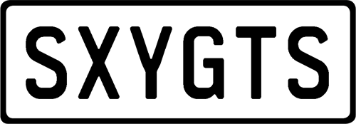 Plate SXYGTS