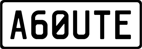Plate A60UTE