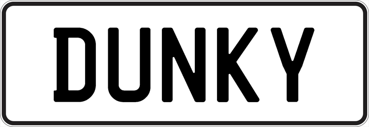 Plate DUNKY