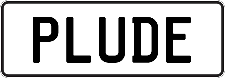 Plate PLUDE