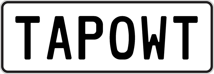 Plate TAPOWT