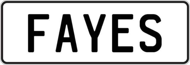Plate FAYES